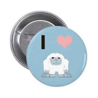 I heart yeti 2 inch round button