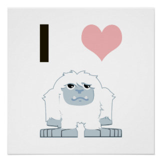 I heart yeti perfect poster