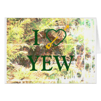 I *Heart* YEW Greeting Cards