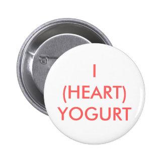 I (HEART) YOGURT 2 INCH ROUND BUTTON