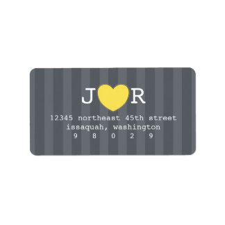 I Heart You Address Label