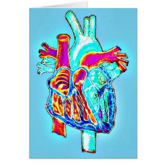 """I Heart You"" Anatomical Heart Greeting Card"