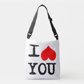 I Heart You and Me Customizable Crossbody Bag
