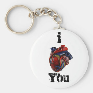 I Heart You! Basic Round Button Keychain
