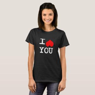 I Heart You Custom  Black T-Shirt