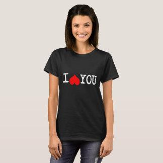 I Heart You Customizable  Black T-Shirt