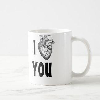 I heart you mug (anatomical heart)