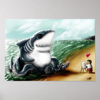 I heart you, Sharktopus Poster