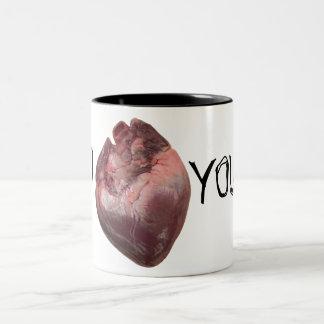 """I """"heart"""" You Two-Tone Coffee Mug"""