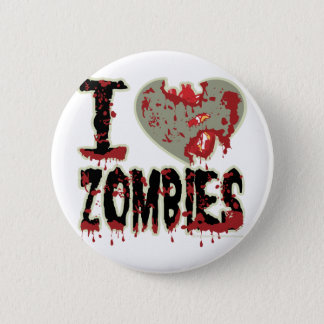 i heart zombies 2 inch round button