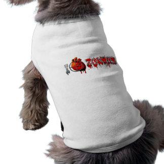 I Heart Zombies Dog Shirt