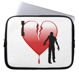I Heart Zombies Laptop Sleeve