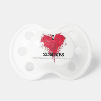 I HEART ZOMBIES PACIFIER