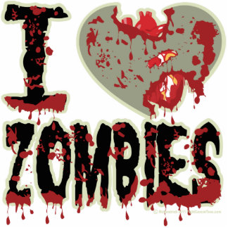 I Heart Zombies Cut Out