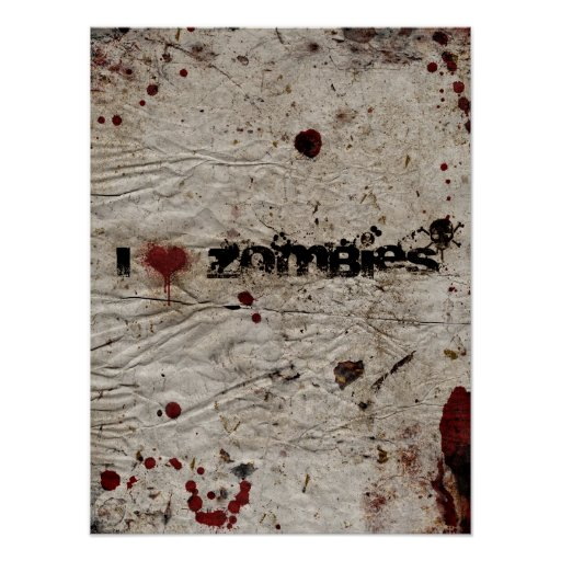 I Heart Zombies Poster