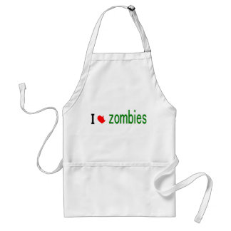 I heart zombies standard apron