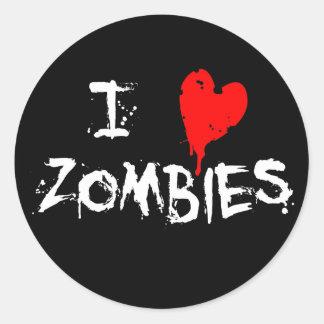 I Heart Zombies - Sticker
