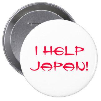 I Help Japan! 4 Inch Round Button