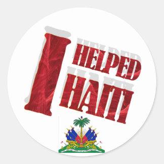 I helped Haiti Sticker