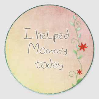I helped mommy stickers