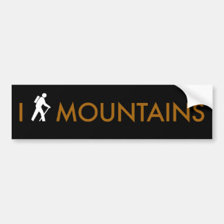 I Hike Mountains Bumper Sticker