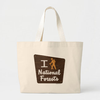 I HIKE NATIONAL FORESTS JUMBO TOTE BAG