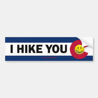 I Hike You Colorado Bumper Sticker