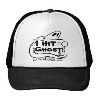 "I hit ghost ""funny ghost shirt"" trucker hat"