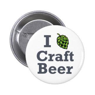 I [hop] Craft Beer 2 Inch Round Button
