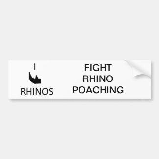 I horn rhino bumper sticker