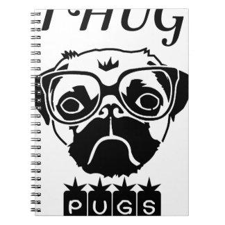i hug pugs notebook