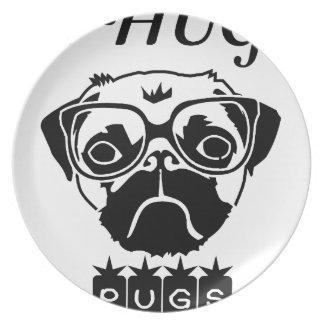 i hug pugs plate