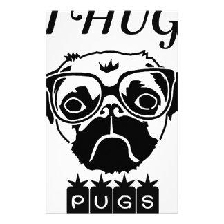 i hug pugs stationery
