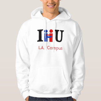 I HUG U , L.A.  Campus Hoodie