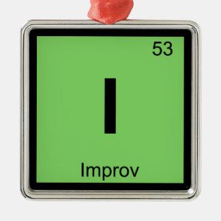 I - Improv Theatre Chemistry Periodic Table Symbol Metal Ornament