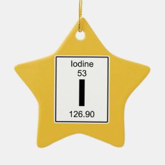 I - Iodine Ceramic Star Ornament