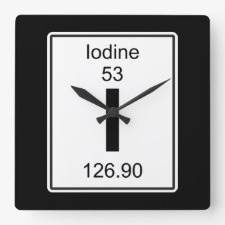 I - Iodine Wallclocks