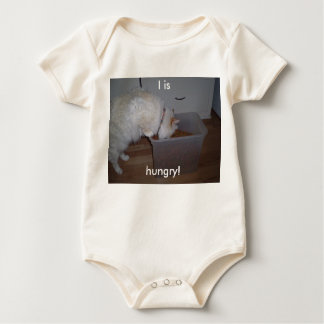 I is hungry! baby bodysuit