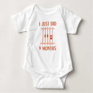 I Just Did 9 Months Baby Bodysuit