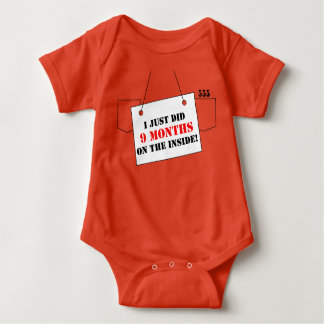 I Just Did 9 Months! Cute Baby Outfit Baby Bodysuit