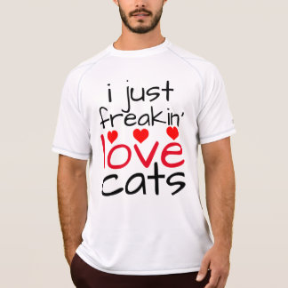 i just freaking love cats t-shirts
