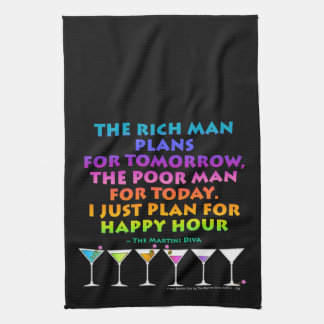 I JUST PLAN FOR HAPPY HOUR TOWEL