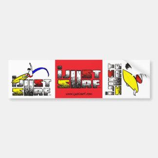 I Just Surf Sticker (3 Pack) Bumper Sticker