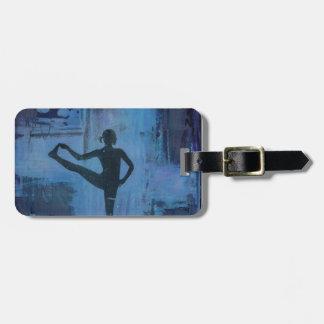 I Keep My Balance Yoga Girl Luggage Tag