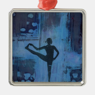 I Keep My Balance Yoga Girl Metal Ornament