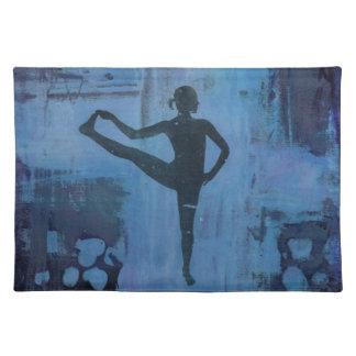 I Keep My Balance Yoga Girl Placemat