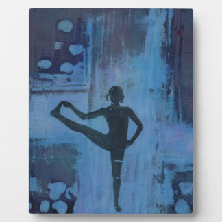 I Keep My Balance Yoga Girl Plaque
