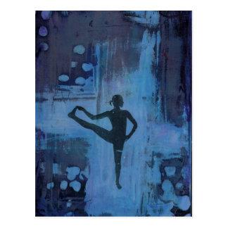 I Keep My Balance Yoga Girl Postcard