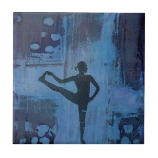 I Keep My Balance Yoga Girl Tile