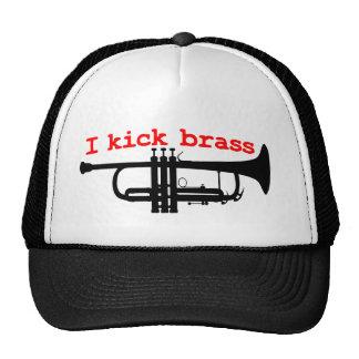 I Kick Brass Trucker Hat